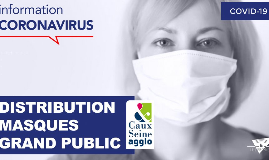 Distribution masques grand public Caux Seine agglo